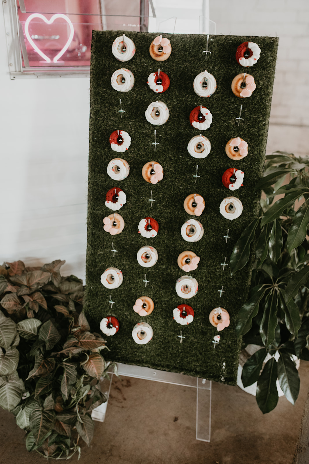 Colorful Donut wall 4 Eleven Fort Worth Wedding Photographer 4Eleven