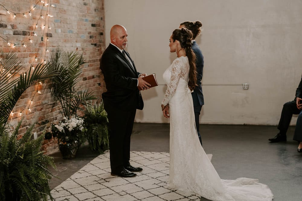 Vintage Spring Wedding at The Eagle Historic Warehouse in Hillsboro Texas