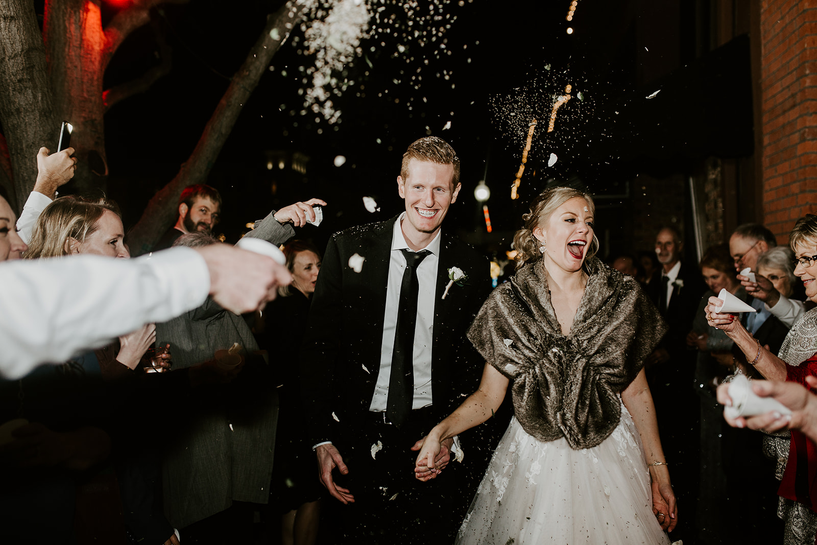 Confetti Exit at 34 Events Plano Wedding Photographer