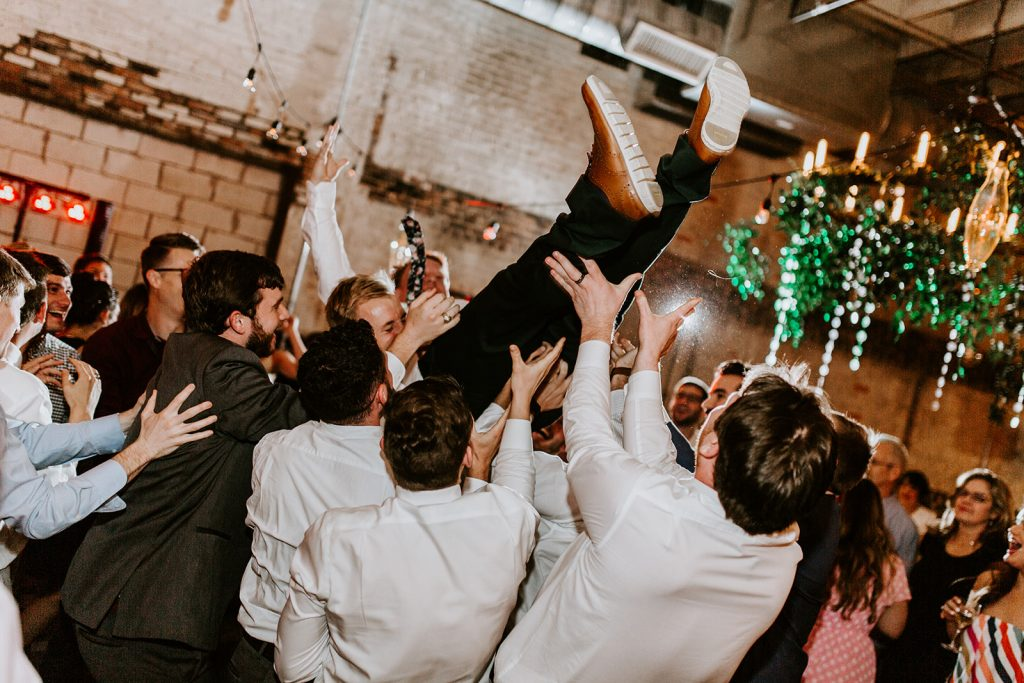 Wedding Reception at Brake and Clutch Warehouse in Dallas Texas