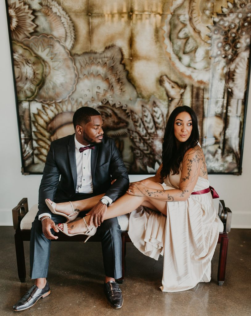 Traci and Michael - Engagement Session - Jean de Merry Showroom - Dallas, Texas - Dallas Wedding Photographer - Dallas Engagement Photographer