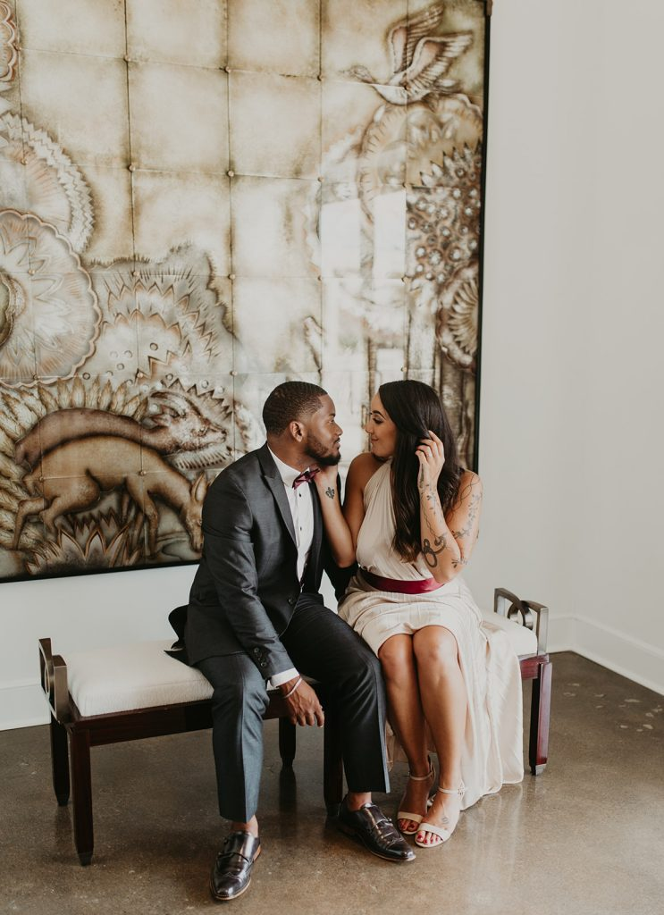 Dallas Engagement Session - Traci and Michael - Engagement Session - Jean de Merry Showroom - Dallas, Texas